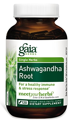 Gaia Herbs Ashwagandha Root, Vegan Liquid Capsules, 120 Count - for Stress Relief, Immune Support, Balanced Energy Levels and Mood Support