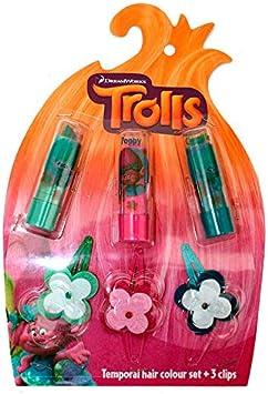Set tinte pelo temporal Trolls: Amazon.es: Juguetes y juegos
