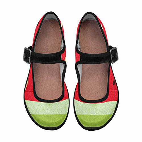 Interestprint Womens Comfort Mary Jane Flats Casual Scarpe Da Passeggio Multi 13