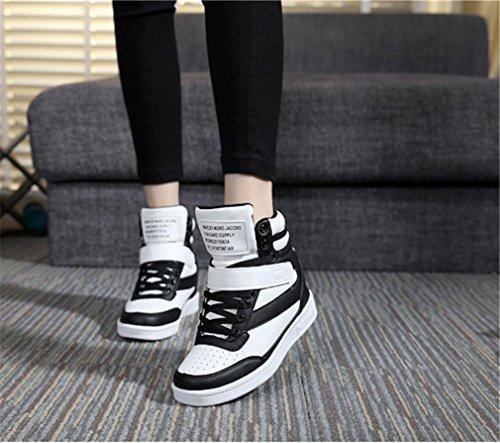 dessus De Noir Sports Femmes Pour Et Blanc Des Plates Chaussures Haut 6SdR7xq6