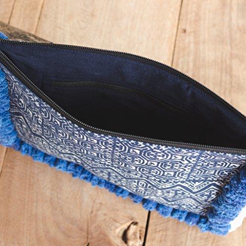 Holder Fair Pom Blue Changnoi Pom Ipad Woman's with Clutch Bag Trade Unique gCq0w1