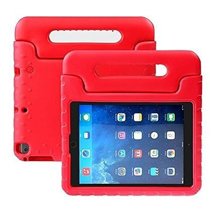 BELLESTYLE iPad 9,7 Pouces 2017/2018 Cas - EVA Stand Étui Enfants Housse Antichoc Protecteur Coque avec Convertible Poignée pour Tablette Apple iPad 9.7 2018/2017, iPad Air/iPad Air 2 (Orange) BE-iPad9.7-17-Rose