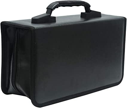 Storage 128 Capacity CD VCD Media Wallet Booklet Rose Holder Organizer Bivisen CD//DVD Case Holder
