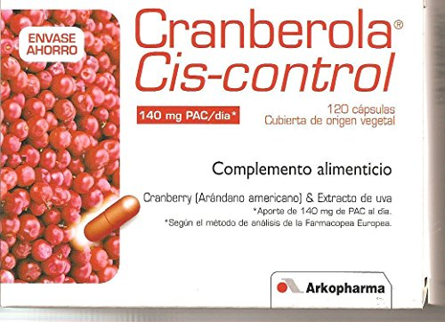 Arkopharma Cranberola Cys Contol 120 Caps Cranberry 140mg Pac /Day Slender Product by Slender product