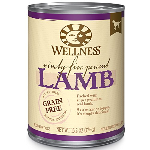 Wellness 95% Lamb Natural Wet Grain Free Canned Dog Food, 13.2-Ounce Can (Pack of 12) (Raw Canned Cat Food compare prices)