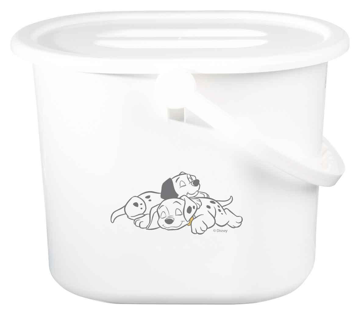 Bébé-jou - Contenedor para pañales, color blanco blanco 101 Dalmatiner 6161101