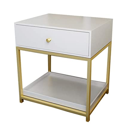 Amazon.com: Bedside table XIAODONG Nordic Modern Sofa Side ...