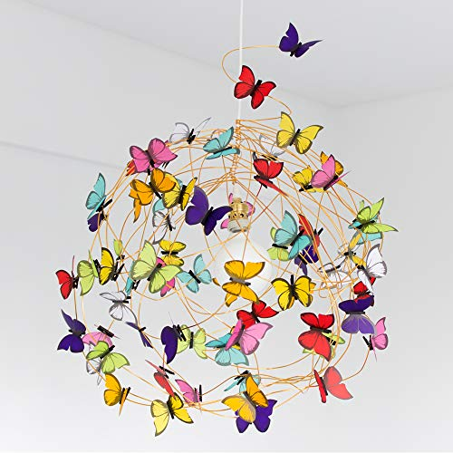 XL Ceiling lamp multicolor butterflies-Bedroom Lighting,Fun Light,Colorful light,playroom,Kids Room Decor,Room Light,butterfly lover,woman