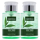 Beauty America Tea Tree Facial Toner, No-Leak, Push-Top Pump, 2 pack