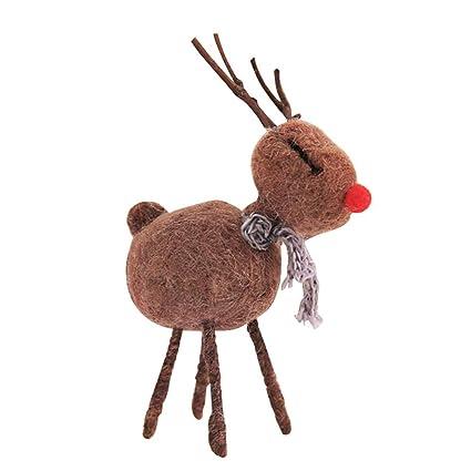 GLOBEAGLE - Fieltro para niños, diseño de Ciervo y decoración navideña, 11 * 16cm