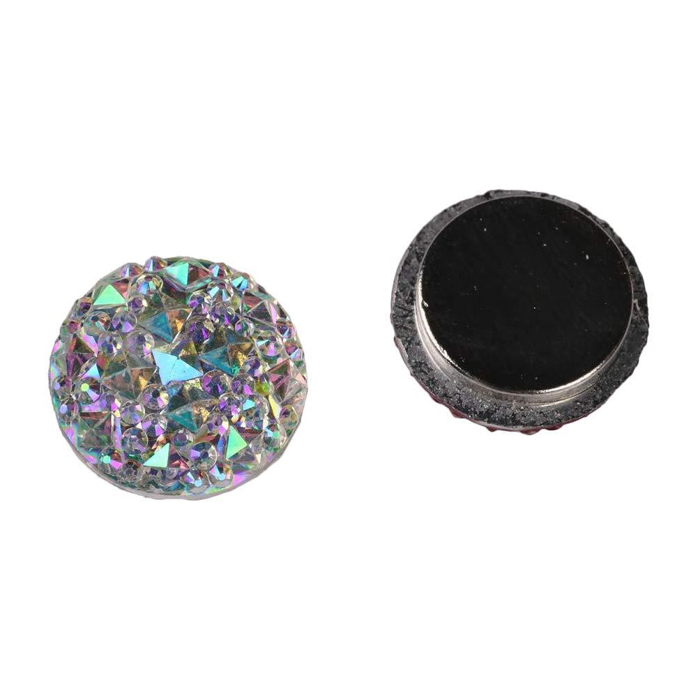 potato001 Muslim Round Magnet Brooch Pins Clasp Hijab Scarf Abaya Clothes Jewelry 5