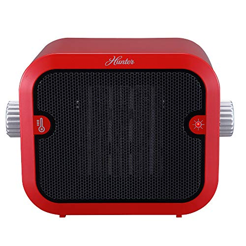 Hunter PC-003RD Retro Ceramic Space Heater (Red)