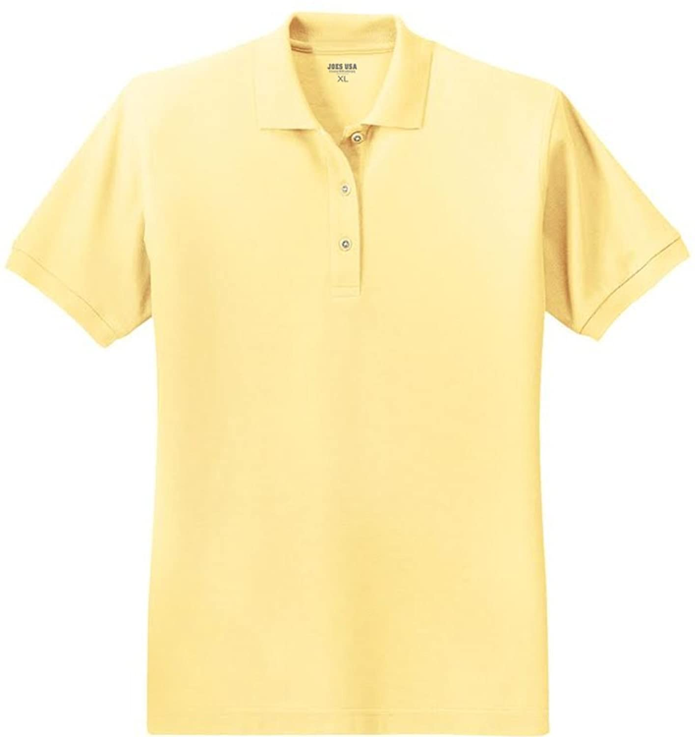 8af766cb81d Joe s USA - Ladies Short Sleeve Polo Shirts in 36 Colors and Sizes XS -  6XL. with built-to-last tailoring and fashion detailing. Superior wrinkle  and shrink ...