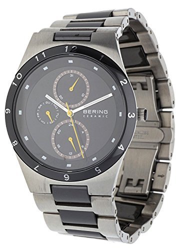 BERING Time 32339-722 Men's Ceramic Collection Watch with Ceramic Link Band and scratch resistant sapphire crystal. Designed in Denmark.