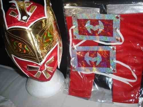 Sophzzzz Topy Shop Sin Cara Red Fancy Dress Up Costume Outfit Gear Suit Child Universal Wwe -