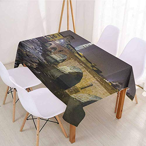 Clear Table Verona (ScottDecor Wrinkle Free Tablecloths Printed Tablecloth W 70