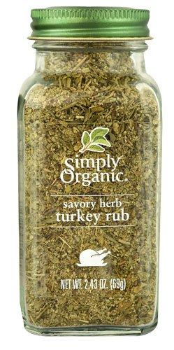 Simply Organic Savory Herb Turkey Rub -- 2.43 oz - 2 pc