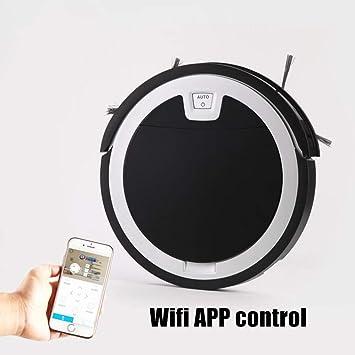 DOLPHINEGG Robot aspiradora, 2D Mapa de navegación y Smart Memory Smart Phone WiFi App Control Ultrafino 5.6 cm Inteligente Robot Aspirador: Amazon.es: ...