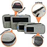Premium Travel Packing Cubes by LuxTravel - 4 Pack | Luxury Travel Suitcase Organizers