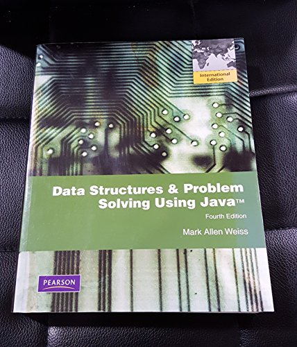 Data Structures & Problem Solving Using Java (3rd International Edition)