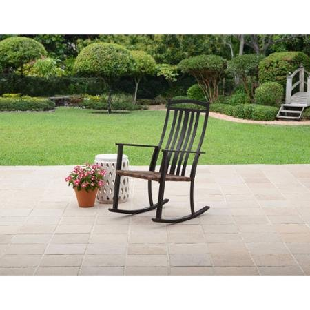 Comfort and Style Generic Better Homes and Gardens Belle Drive Steel Wicker Patio Rocking High Back Chair Sturdy Steel Frame (Chair High Back Clearance Patio Cushions)