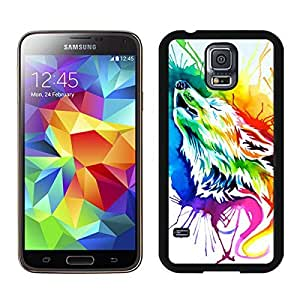 Cool Samsung Galaxy S5 Case Art Rainbow wolf Durable Soft TPU Black Phone Cover Mobile Accessories by icecream design