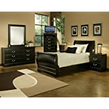 Sandberg Furniture 325z Regency Sleigh Bedroom Set Twin