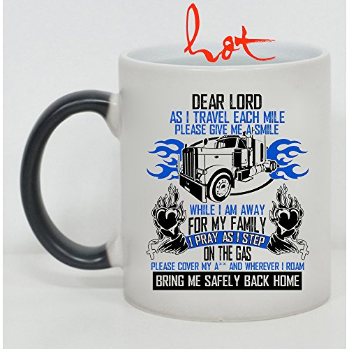 Cute Trucker Cup, I Travel Each Mile Please Give Me A Smile