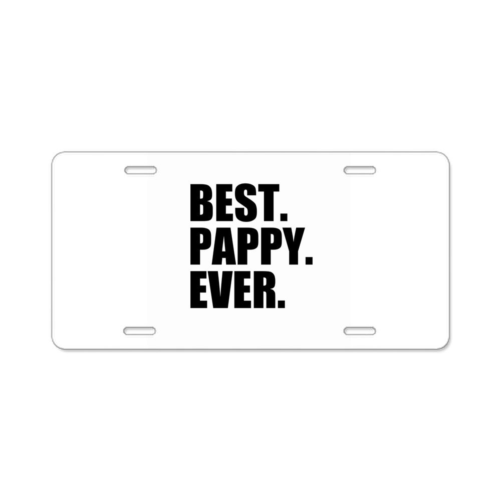 CafePress Best Pappy Ever Aluminum License Plate Vanity Tag Aluminum License Plate Front License Plate