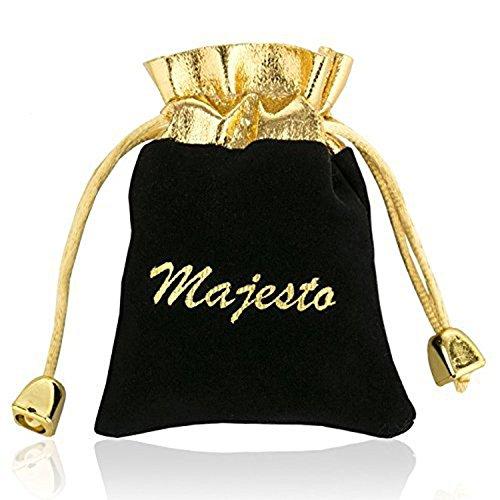 Majesto 925 Sterling Silver Purple Heart Pendant Necklace Stud Earrings Bracelet Set For Women Teens Girls by Majesto (Image #6)