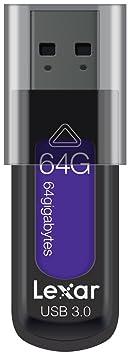Lexar JumpDrive S57 64GB USB 3.0 Flash Drive LJDS57-64GABEU (Lila)