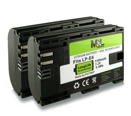 2x Akku / Batterie wie LP-E6 für Canon EOS 5D Mark II / 5D Mark III | EOS 7D | EOS 60D / 60Da