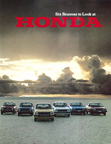 (1978 Honda full-line sales brochure: Civic 1200 CVCC Wagon Accord LX)
