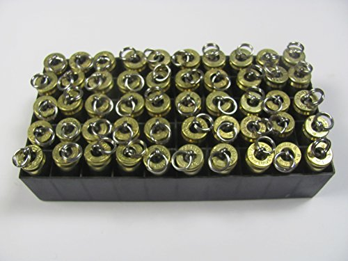 Fifty 9mm Bullet Pendants Wholesale Store Lot of (50), Zipper Pulls, or Key Rings, Excellent for Resale ()