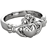 Claddagh Ring Sterling Silver Ladies LS-ULS-6163 - Size: 7