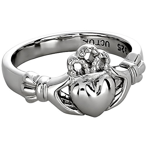 Sterling Silver Ladies Claddagh Ring - Claddagh Ring Sterling Silver Ladies LS-ULS-6163 - Size: 9