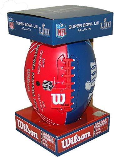 (Wilson Super Bowl LIII (53) Official Size Rams v Patriots Dueling Football)