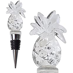 Glass Pineapple Wine Bottle Stopper (20+ Designs to Choose From) - Colorful, Unique, Handmade, Eye-Catching Decorative Glass Wine Bottle Stopper … (Pineapple)