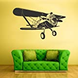 Wall Decal Vinyl Sticker Decals Bedroom Aircraft Airplane Biplane Air Sky Kids Boys (Z1592)