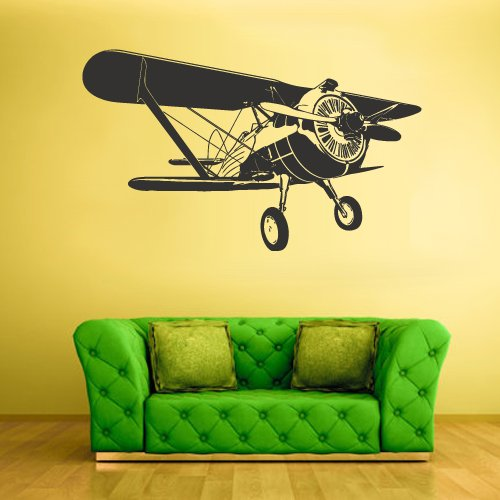 Wall Decal Vinyl Sticker Decals Bedroom Aircraft Airplane Biplane Air Sky Kids Boys (Z1592) (Fdc Airplanes)