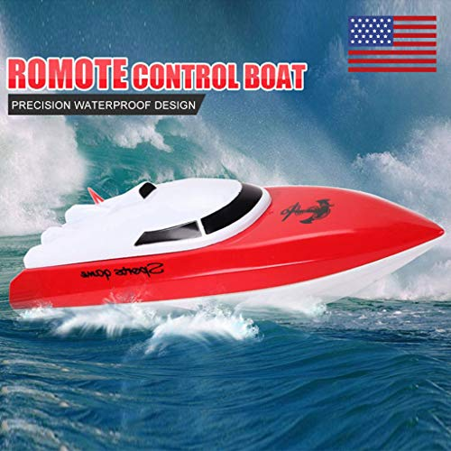 - Sodoop Remote Control Boats High Speed Controlled RC Boat for Boys & Girls & Adult,Electric 4 Channels for Pool & Lakes and Outdoor Adventure, Red
