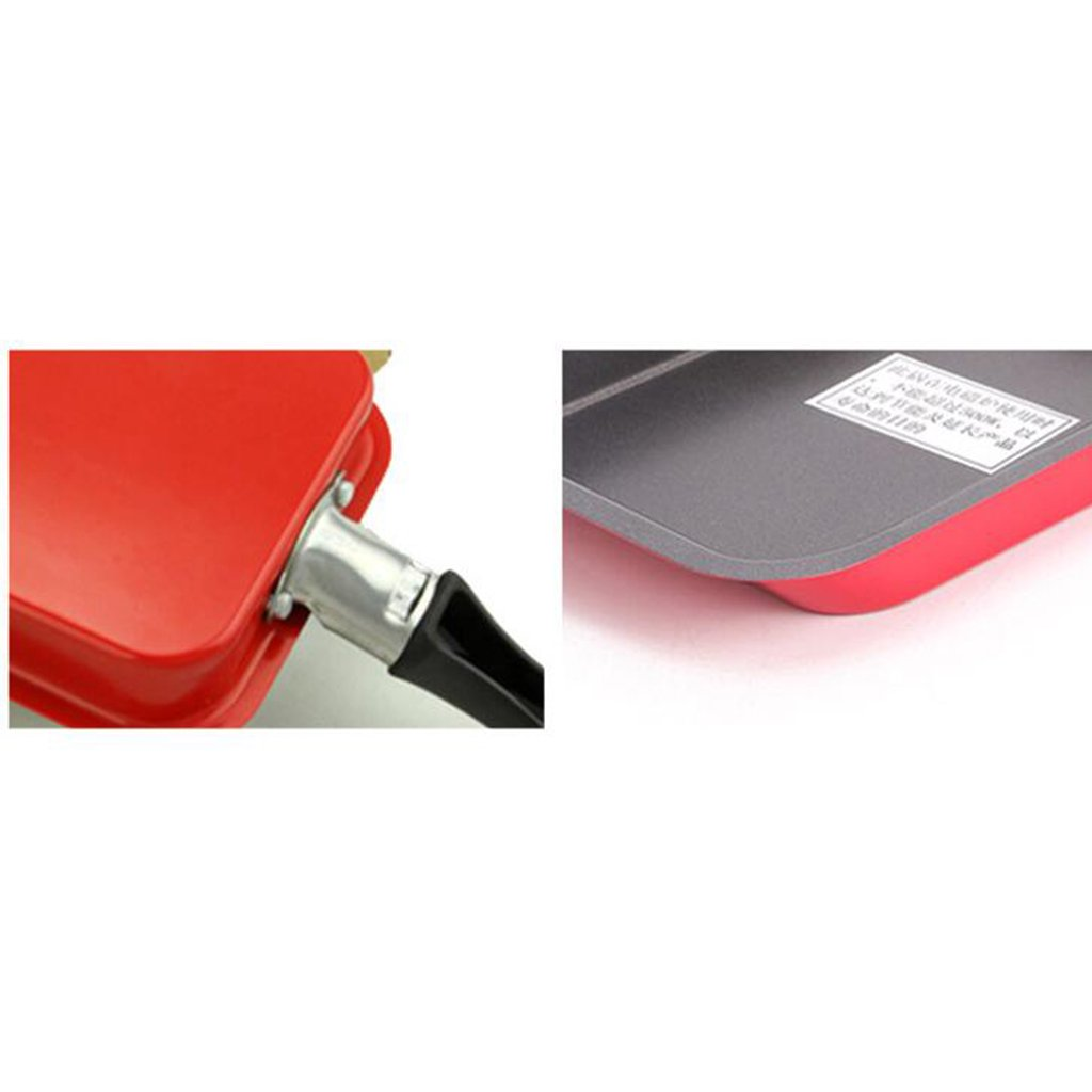 Baoblaze NEW Rectangle Non-stick Frying Pan Induction Saute Broil Bake Cookware - Red by Baoblaze (Image #6)