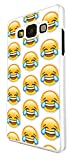 2084 - Cool Funny Emoji Collage LMFAO Crying With Laughter Design For Samsung Galaxy A5 A500M - 2015 Fashion Trend CASE Back COVER Plastic&Thin Metal - White