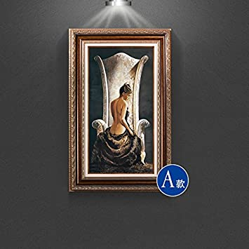 Hochwertig Patined Amerikanischen Eingang Dekoration Malerei Europäischen Badenixe  Malerei Wandbilder Gang Mediterrane Wohnzimmer, 70 * 110