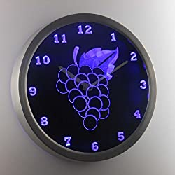nc0992-b Grape Fruit Kitchen Decor Neon Sign LED Wall Clock