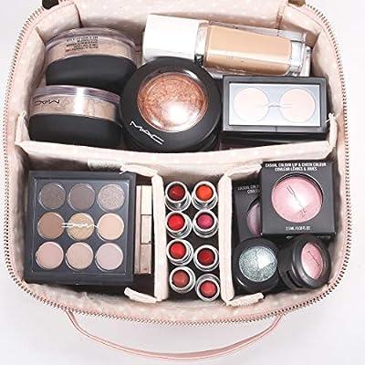 Amazon.com: Lindo organizador de maquillaje rosa para ...