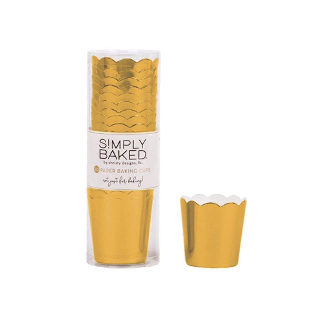 Simply Baked PGC-20C Paper Baking Cup, Petite, Gold Metallic by Simply Baked (Image #3)