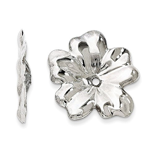Top 10 Jewelry Gift 14k White Gold Floral Earring Jackets by Jewelry Brothers Earrings