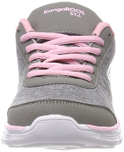 english Grey Ref Grau vapor Kr Femme Kangaroos run Basses Rose qgHAxp8