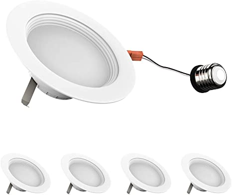 """12-Pack 4-inch Dimmable LED Downlights 4/"""" Baffle-trim Design Soft White 12-Pack, 3000K 10W Retrofit Replace 65W cETLus CRI 90+ 10W 4-inch Dimmable LED Downlights Energy Star /& FCC approved"""